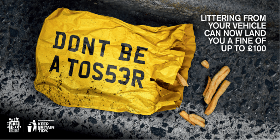 stop littering advert